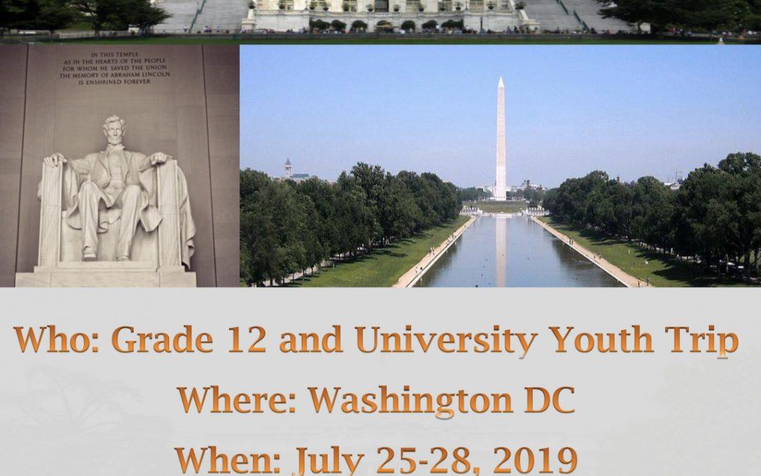 Washington DC Youth Trip